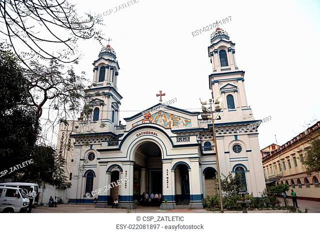 The Catholic Cathedral of the Holy Rosary in Kolkata