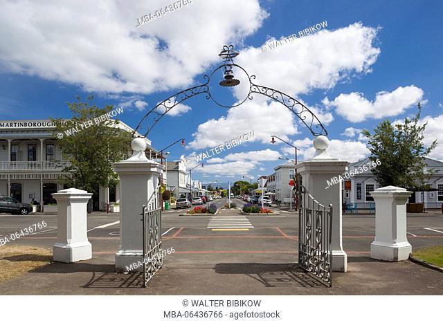 New Zealand, North Island, Martinborough, Kitchener Street