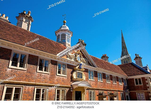 Salisbury Cathedral close. England UK