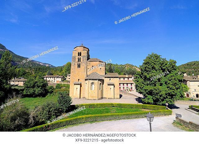 Romanesque church of Santa María. Santa Cruz de la Serós. Huesca province. Aragón. Spain