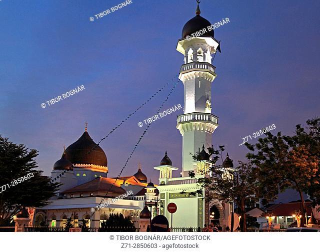 Malaysia, Penang, Georgetown, Masjid Kapitan Keling, mosque, minaret,