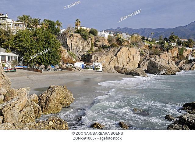 Playa Calahonda, beach, Nerja, Malaga province, Andalusia, Spain, Europe, Playa Calahonda, Strand, Nerja, Provinz Malaga, Andalusien, Spanien, Europa