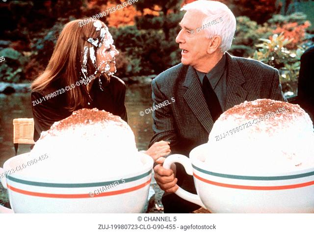 Jul 23, 1998; Los Angeles, CA, USA; Actor LESLIE NIELSEN stars as Ryan Harrison and MELINDA MCGRAW as Cass Lake in the Morgan Creek Productions comedy