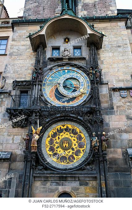 Medieval Astronomical Clock, Prague Orloj, Old Town Hall, Old Town Square, Prague, Czech Republic, Europe