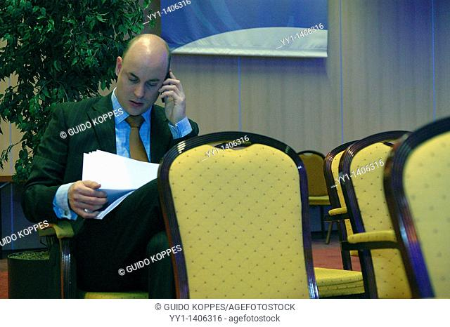 Man having mobile conversation