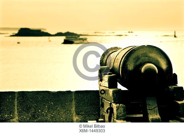 Cannon  Saint-Malo  Brittany, France, Europe