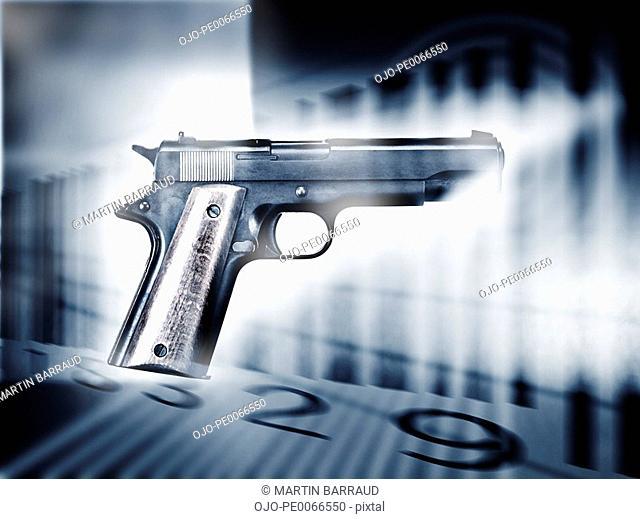 Handgun and bar code