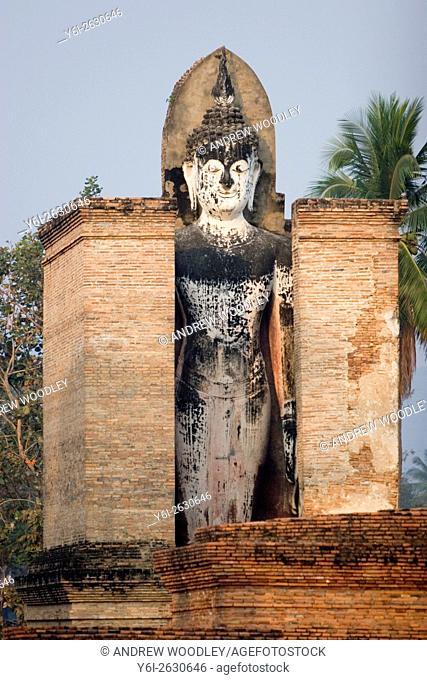 Buddha statue Sukhothai Thailand