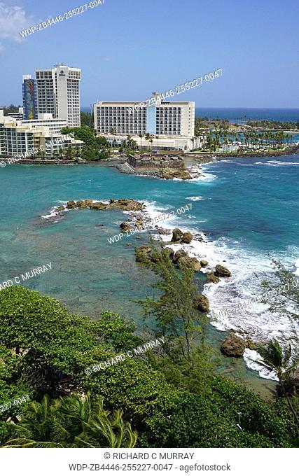 The Condado Plaza Hilton hotel Barrier Reef Condado Lagoon & Atlantic Ocean Fort San Ger—nimo del Boquer—n-San Juan, Puerto Rico