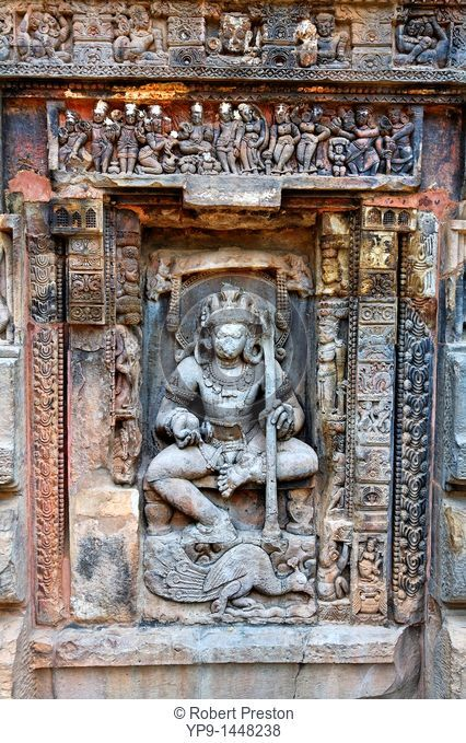 India - Orissa - Bhubaneswar - sculptural detail at the Hindu temple of Parasuramesvara Mandir