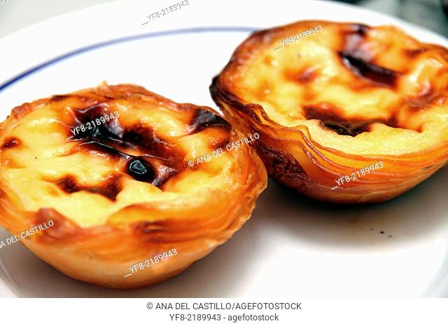 Nata pastries Lisbon Belem