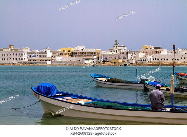 Oman, Sur, Ayja district, fisherman