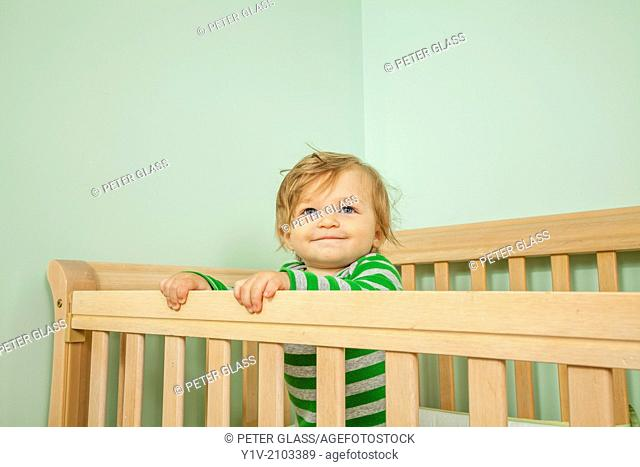 Baby in his crib