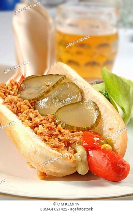 Danish-style hot dog