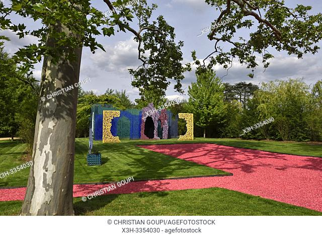 """"""""""""""""""""""" Le Jardin des Hypothese"""""""", jardin par Bernard Lassus, Pres du Goualoup, Domaine de Chaumont-sur-Loire, departement Loir-et-Cher"""
