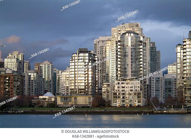 buildings on False Creek, Vancouver, BC, Canada