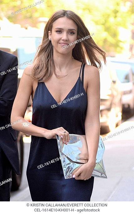 Jessica Alba out and about for Celebrity Candids, Chelsea, New York, NY June 14, 2016. Photo By: Kristin Callahan/Everett Collection