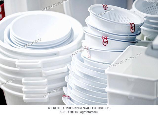 Plastic receptacles