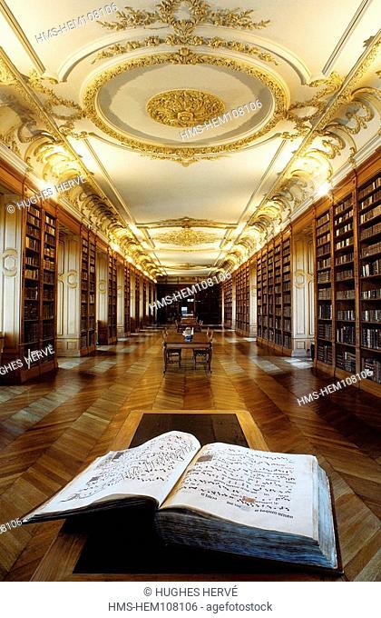 France, Meuse, Saint Mihiel, Benedictine library