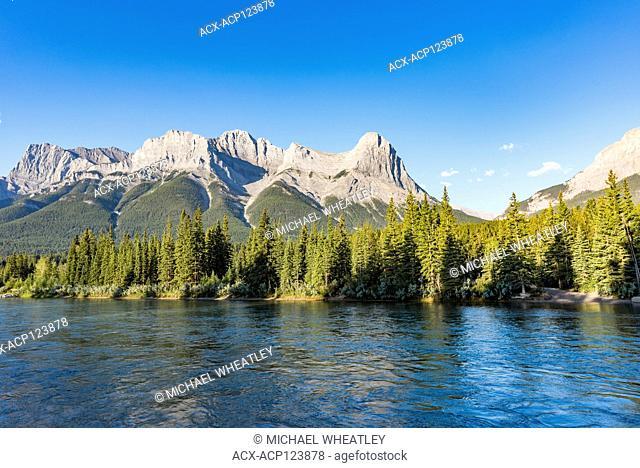 Ha Ling Peak, Bow River, Canmore, Alberta, Canada