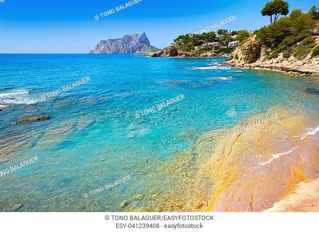 Cala Pinets beach in Benissa also Benisa of Alicante at Spain