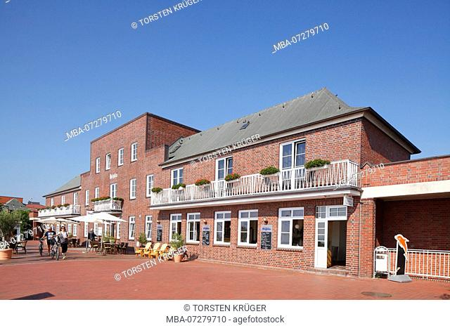Catering, Hotels on the Wilhelmshaven South Beach Promenade, South Beach, Wilhelmshaven, Lower Saxony, Germany, Europe