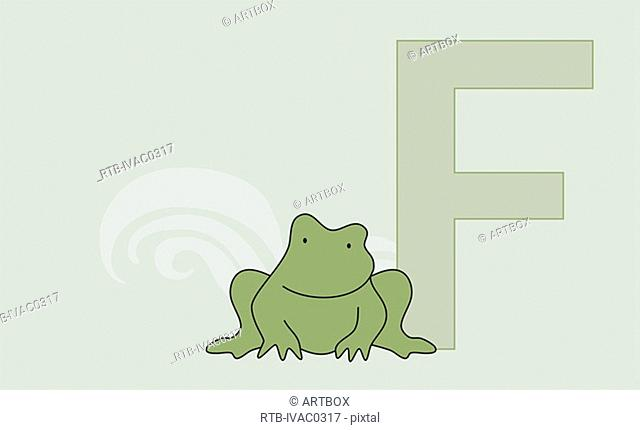 The letter F with a frog