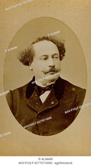 Portrait of Alexandre Dumas fils, French writer and dramatist, carte de visite, shot 1860-1870 by Franck Phot