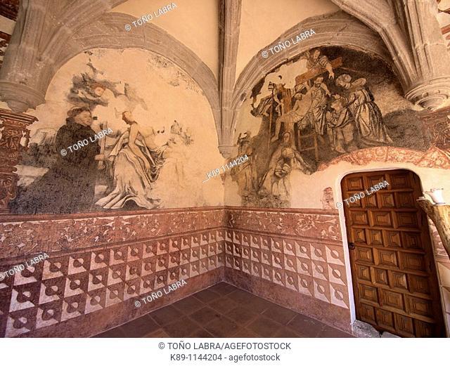 Frescos. Convento agustino del Divino Salvador. Siglo XVI. Malinalco. México