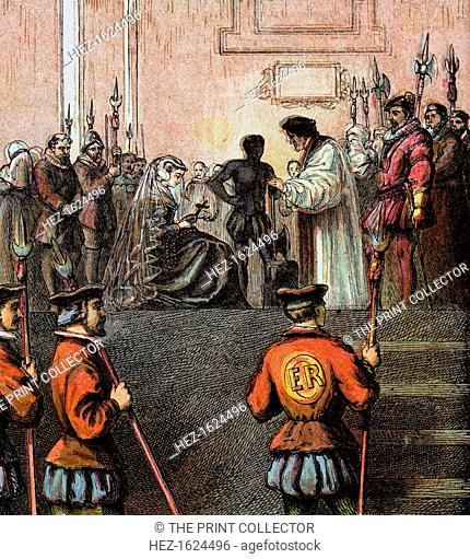 'Execution Of Mary, Queen Of Scots, 1587', (c1850). The beheading of Mary I of Scotland, (1542-1587), Queen of Scots. Colour plate from Pictures of English...