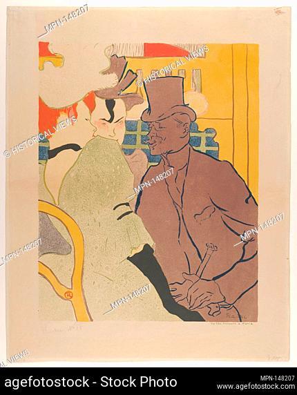 The Englishman at the Moulin Rouge. Artist: Henri de Toulouse-Lautrec (French, Albi 1864-1901 Saint-André-du-Bois); Printer: Edward Ancourt (French