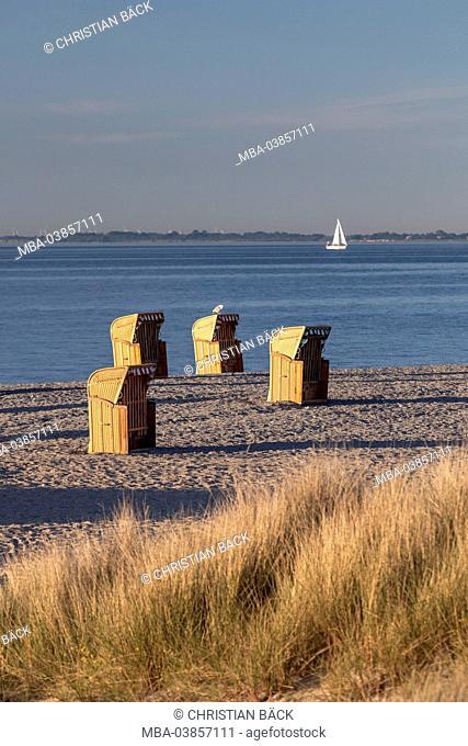 Beach on the Graswarder, Heiligenhafen, Holstein, Ostholstein, Schleswig - Holstein, Germany