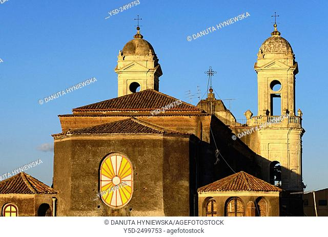 Europe, Italy, Sicily, Catania, San Francesco d'Assisi church, rear facade not seen from any street, here view from high private terrace