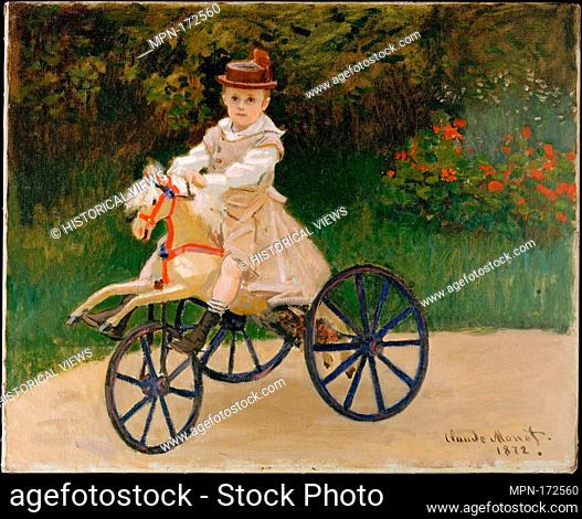 Jean Monet (1867-1913) on His Hobby Horse. Artist: Claude Monet (French, Paris 1840-1926 Giverny); Date: 1872; Medium: Oil on canvas; Dimensions: 23 7/8 x 29...