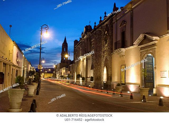 Venustiano Carranza street. Aguascalientes. Mexico
