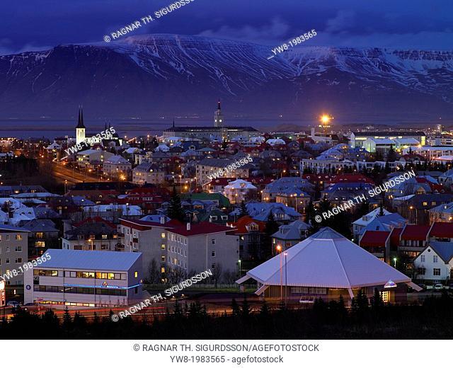 Evening, Reykjavik, Iceland