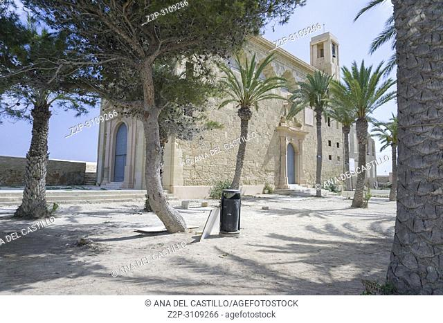 Church in Tabarca, is an islet located in the Mediterranean Sea, close to the town of Santa Pola, in the province of Alicante, Valencian community
