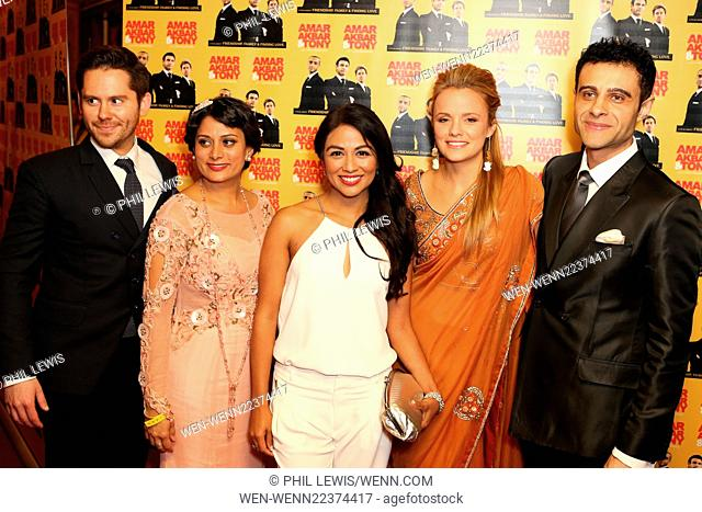 'Amar Akbar & Tony' British premiere at Cineworld Haymarket - Arrivals Featuring: Martin Delaney, Karen David, Laura Aikman, Rez Kempton Where: London