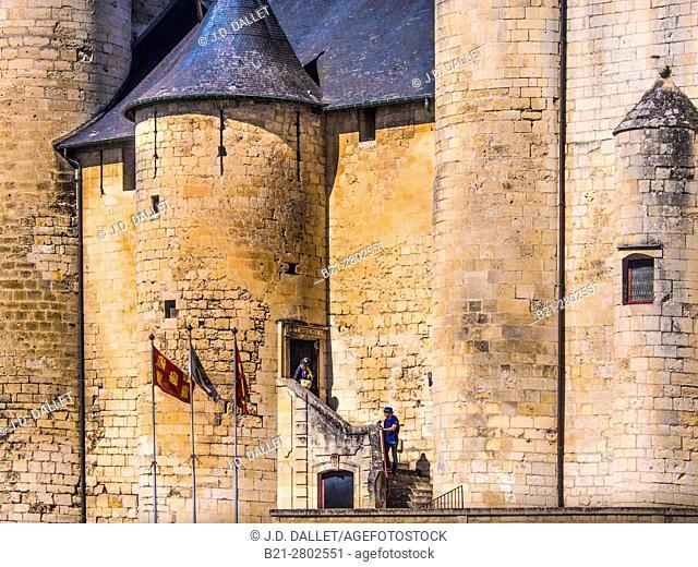 France. Poitou Charente. Middle Age castle,XII-XIVc.,, at Niort