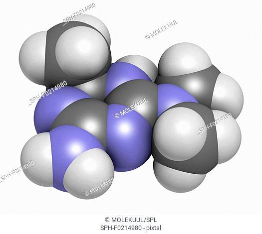 Imeglimin diabetes drug molecule