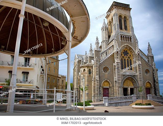 St Eugene church Biarritz Lapurdi Pirineos Atlanticos, Aquitania, Francia