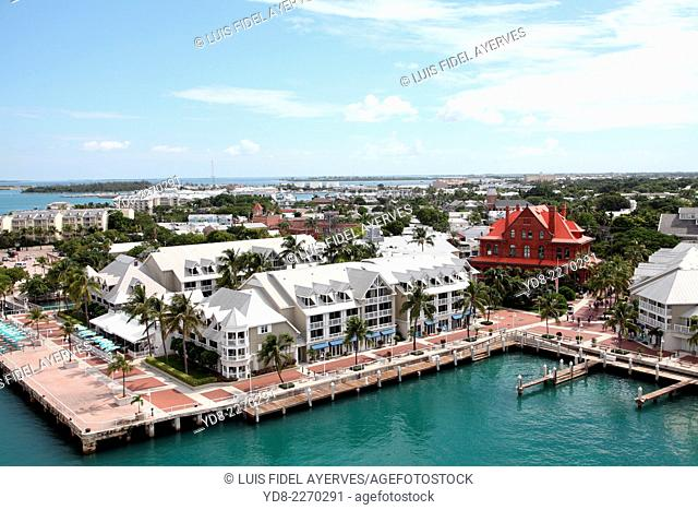 Panoramic view of Key West, Florida from Majestic of the Seas cruise from Royal Caribbean