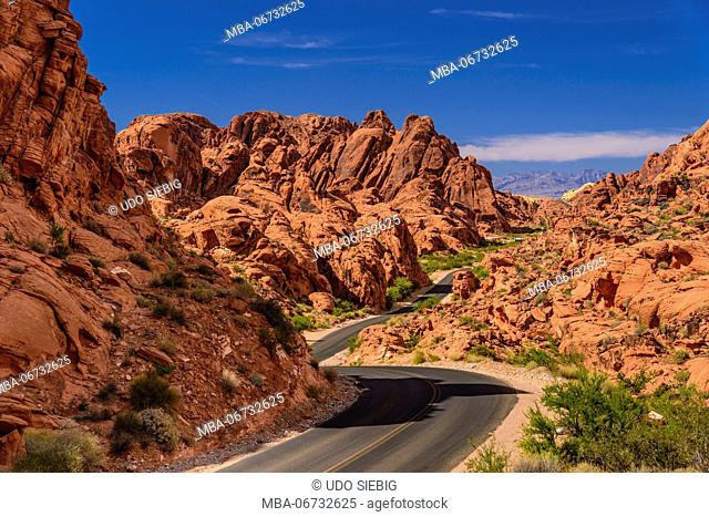 The USA, Nevada, Clark County, Overton, Valley of Fire State Park, Mouses tank Road