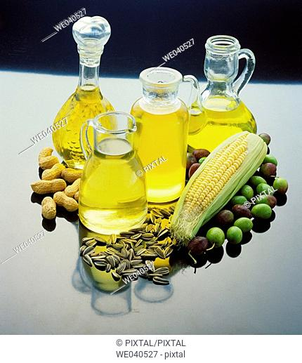 Corn, olive, sunflower and peanut oils