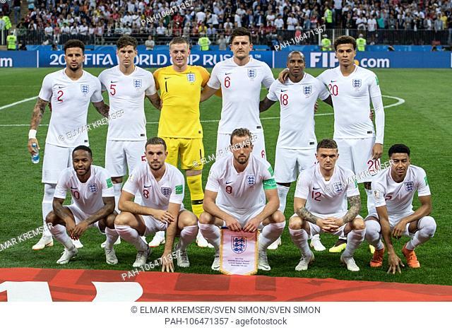 Orleft to right Kyle WALKER (ENG), John STONES (ENG), goalie Jordan PICKFORD (ENG), Harry MAGUIRE (ENG), Ashley YOUNG (ENG), Dele ALLI (ENG)