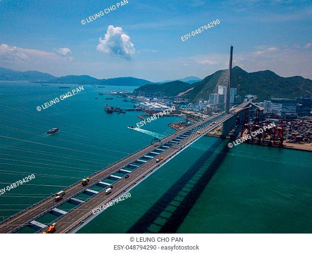 Kwai Tsing, Hong Kong 02 May 2018:- Ting Kau Bridge