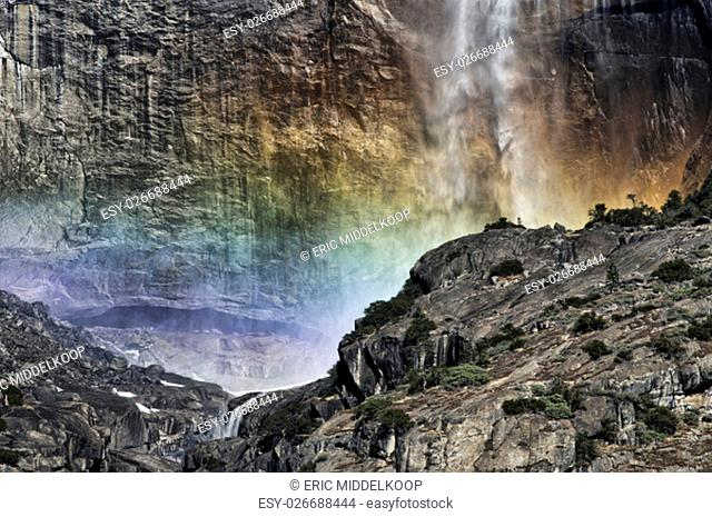 Rainbow colors in Yosemite Falls