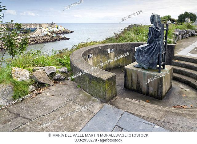 Fisherman's wife monument in LLanes. Asturias. Spain