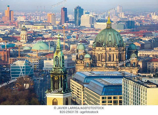 Berliner Dom, Marienkirche church, Alexander platz, Berlin, Germany