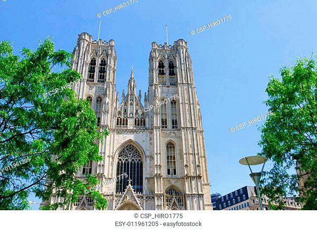 Cathedral St.Michel in Brussels, Be
